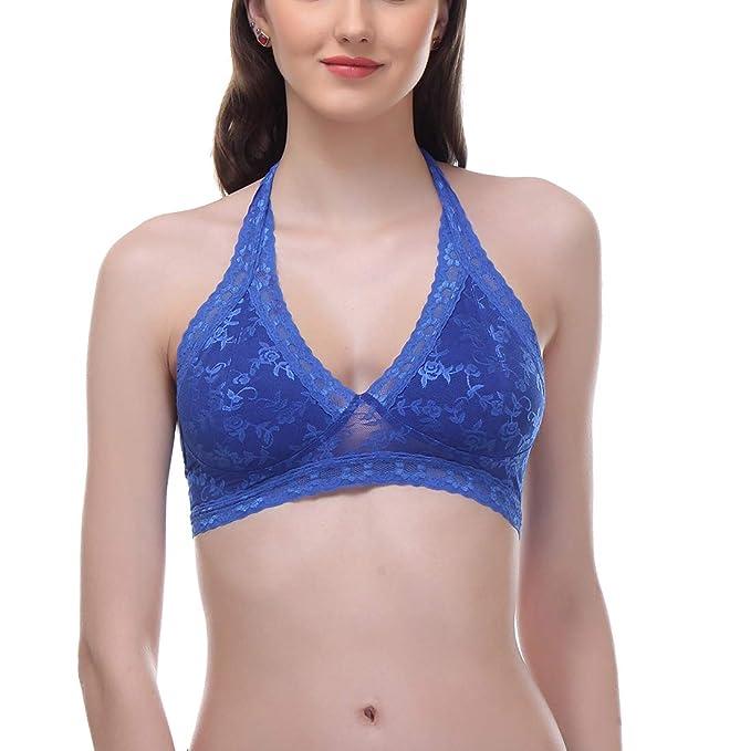 ba3e75c804965 Urbaano Scalloped lace Bralette Bra (Pack of One)  Amazon.in ...