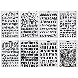 HBlife Plastic Alphabet Letter Number Bullet Journal Stencil Template Set of 8, Drawing Painting Stencils Scale For Planner/Notebook/Diary/Scrapbook/Journaling/Graffiti/Card DIY Painting Craft Projects