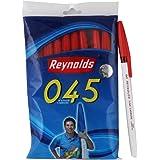 Reynolds 045 Ball Pen - Red, Pack of 10
