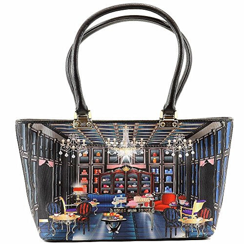 Love Moschino Women's Cafe Printed Large Fabric Satchel Handbag by Love Moschino (Image #2)
