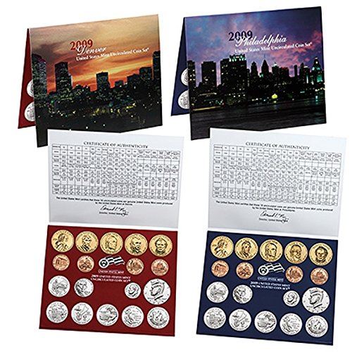 2009 Lincoln Coin (2009 U.S. Mint - 36 Coin Uncirculated Set with CoA Set Uncirculated)