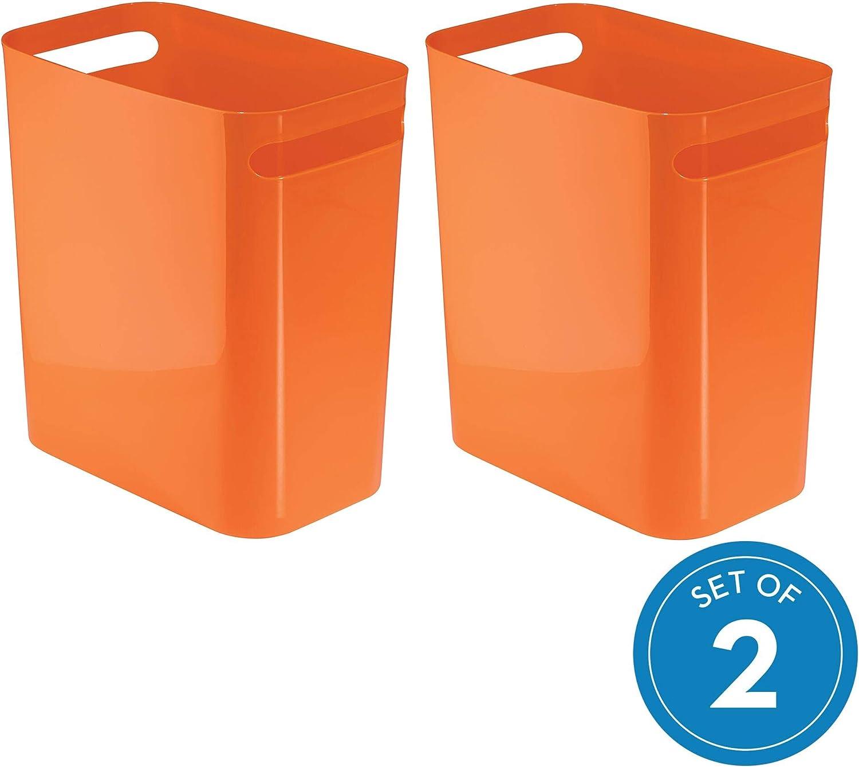 12-Inch Plastik Orange InterDesign Abfalleimer UNA Can