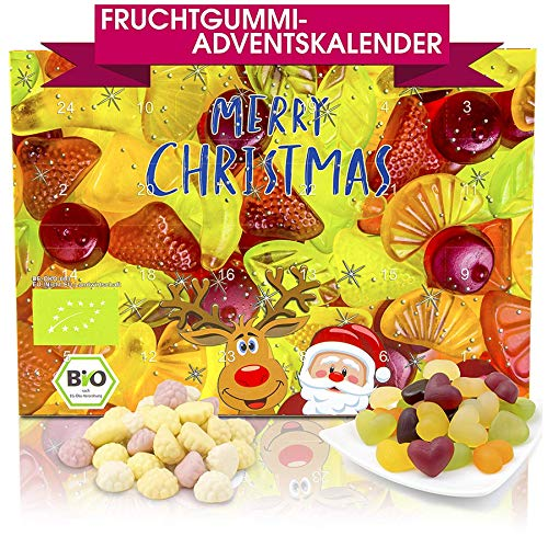 C&T Bio Fruchtgummi-Adventskalender mit Gummibärchen, Weingummi, Jogurtgums, Colafläschen | Weihnachtskalender zum Naschen in der Adventszeit: Amazon.de: Grocery