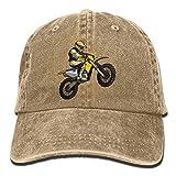 6570 low profile - Basball Hat Silhouette of Motocross Denims Cap Adjustable Cotton Sport Hat Strap Cap for Men Women