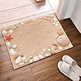 Beach Shell Conch Red Starfish Bathroom Carpet Anti Slip Door Mat Floor  Threshold Outdoor Indoor