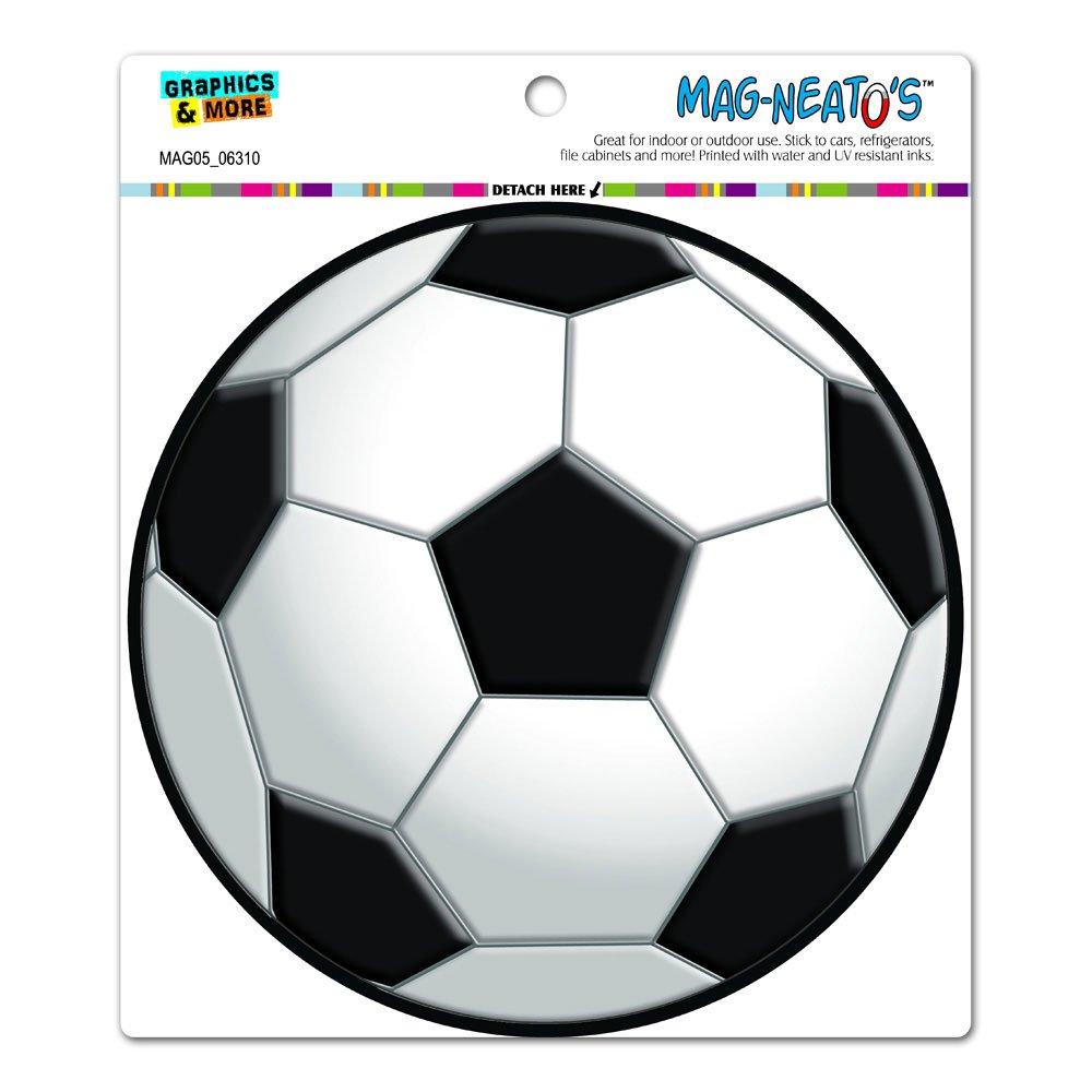 Automotive Car Bonnet Boot Refrigerator Locker Vinyl Magnet Circle MAG-NEATOS Soccer Ball TM