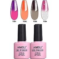 AIMEILI Soak Off UV LED Gel Nail Polish Multicolour/Mix Colour/Combo Colour Set Of 4pcs X 10ml - Kit Set 9