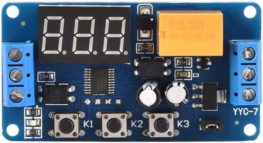 타이머 모듈 타이머 스위치 모듈로 조정가능한 주기 타이머 컨트롤 릴레이의 시간 지연 스위치 모듈 3V3.7V4.5V5V6V7.4V