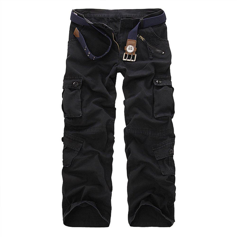 TollMode Herren Cargo Hosen Lang Freizeit Stoffhose Loose Pants