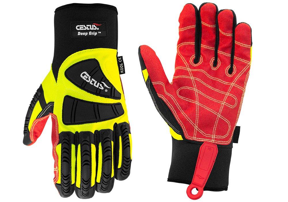 Cestus Pro Series Deep Grip Kool Impact Glove, Medium (Pack of 1 Pair)