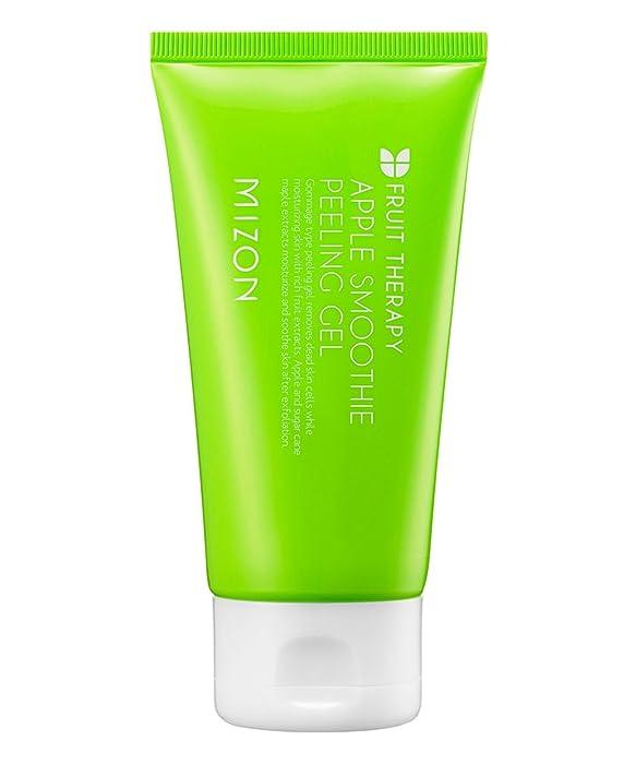 Mizon Apple Smoothie Peeling Gel, Glowing Smooth Skin, Elasticity, Natural and Mild Peeling with Gentle Exfoliation, Brightening and Deep Cleansing 120ml, 4.1 fl oz