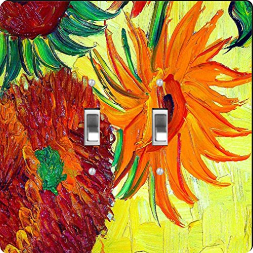 Rikki Knight Van Gogh Sunflowers Design Double Toggle Light Switch Plate from Rikki Knight