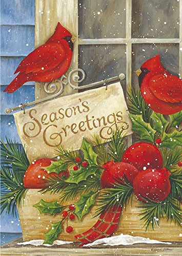 Evergreen Seasons Greetings Silk Garden Flag, 12.5 x 18 inch