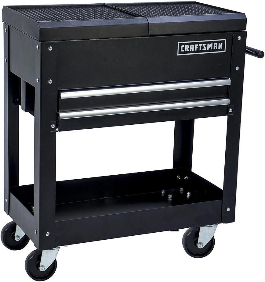 Utility TOOL Cart Storage Cabinet 31 in 5-Drawer Rolling Wheels Steel Black