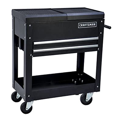 Craftsman Tool Box Cart, 350 Lb Large Capacity, Steel Sliding Drawer, Black