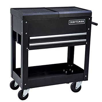 Craftsman Tool Box Cart, 350 Lb Large Capacity, Steel Sliding ...