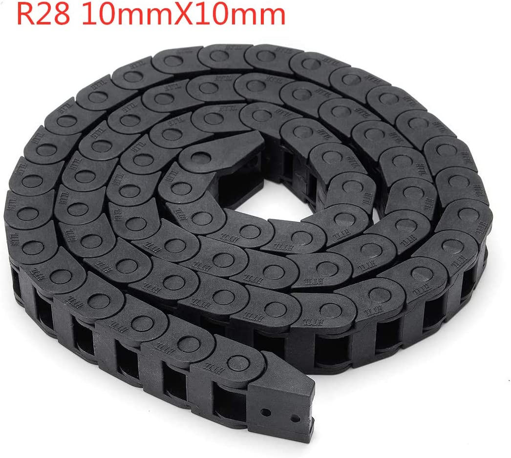 1M BZ 3D Plastic Flexible Nested Cable Drag Chain 10mm x 10mm Wire Cable Carrier Twist Chains for 3D Printer Parts CNC 3D Mini Electrical Machines Router Mill 10X10MM