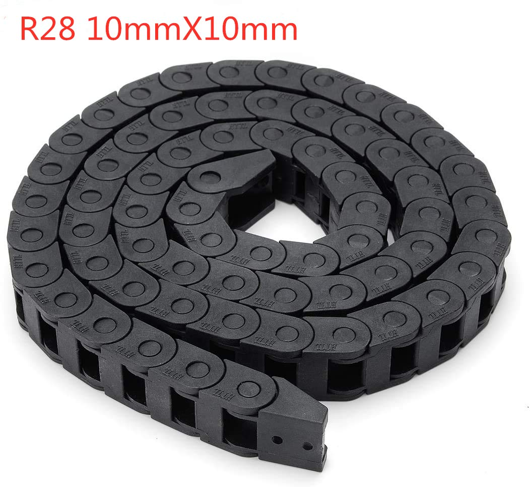 10X10MM 1M BZ 3D Plastic Flexible Nested Cable Drag Chain 10mm x 10mm Wire Cable Carrier Twist Chains for 3D Printer Parts CNC 3D Mini Electrical Machines Router Mill