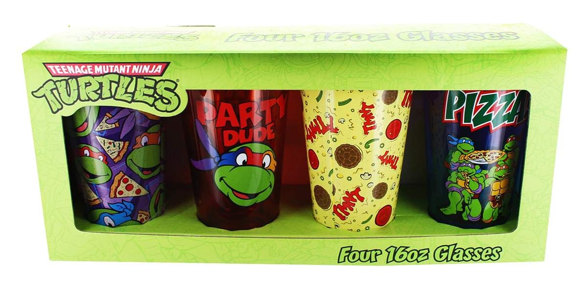 Just Funky TMNT 4-Pack Assorted Pint Glasses