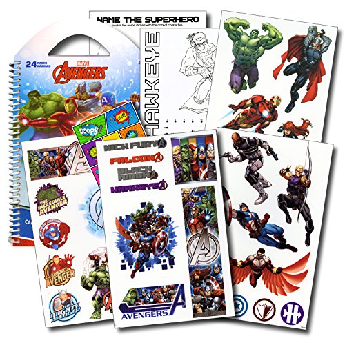 Marvel Avengers Stickers Travel Activity Set with Stickers,