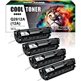 hp 3030 toner cartridge - Cool Toner 4 Packs Q2612A 12A Toner Compatible for HP 12A Q2612A Toner Cartridge Q1261A HP LaserJet 1020 1018 1012 1022 3022 3055 Toner Cartridge