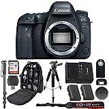 Canon EOS 6D Mark II Digital SLR Camera Bundle (Body Only) + Professional Accessory Bundle (15 items)