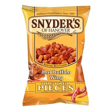 Amazon.com: Snyder's Pretzel: Hot Buffalo Wing Pieces, 2.25 Oz. - 10  Pack!!!!