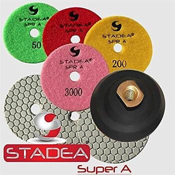 Stadea 4 Inch Granite Polishing Pads for Granite Quartz Stone Polishing