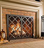 McCormick Celtic Fireplace Screen, Large - 44 L x 13.5 W x 33.25 H - Bronze