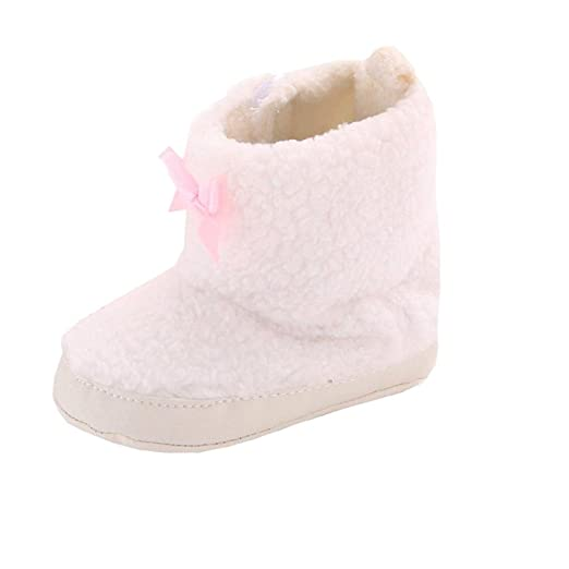 Efaster Popular Infant Toddler Bowknot Soft Sole Snow Boots Baby Girl Crib  Shoes (0~ 46bfc1a1aed0
