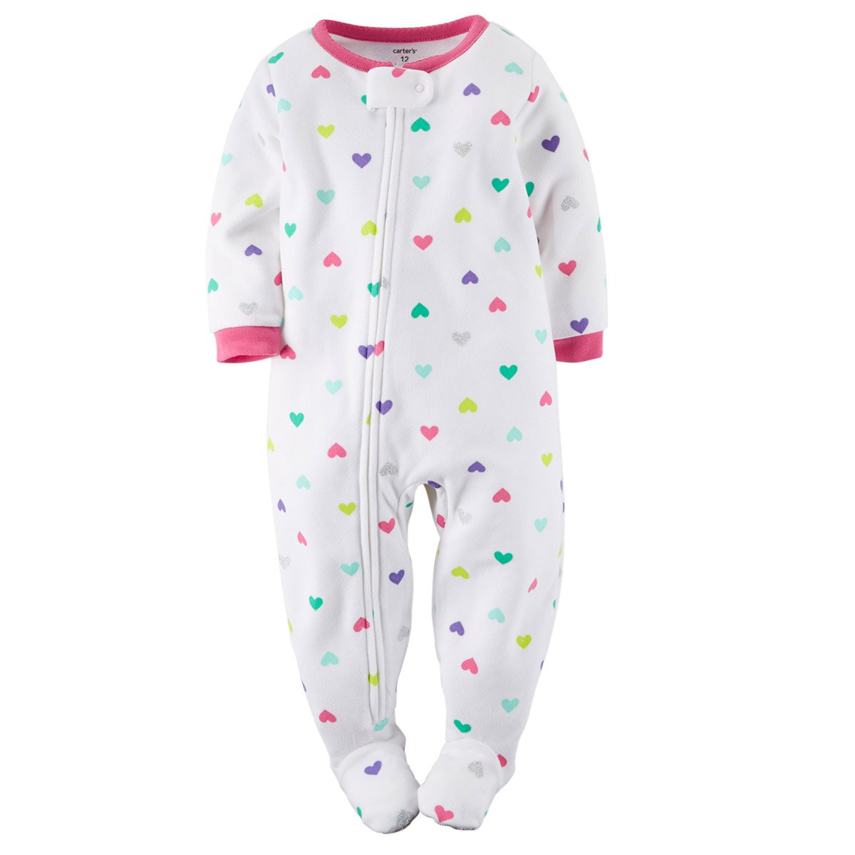 Amazon.com  Carter s Little Girls  Toddler Footed Fleece Blanket Sleeper  Pajamas Heart Print  Clothing 90ccc8211