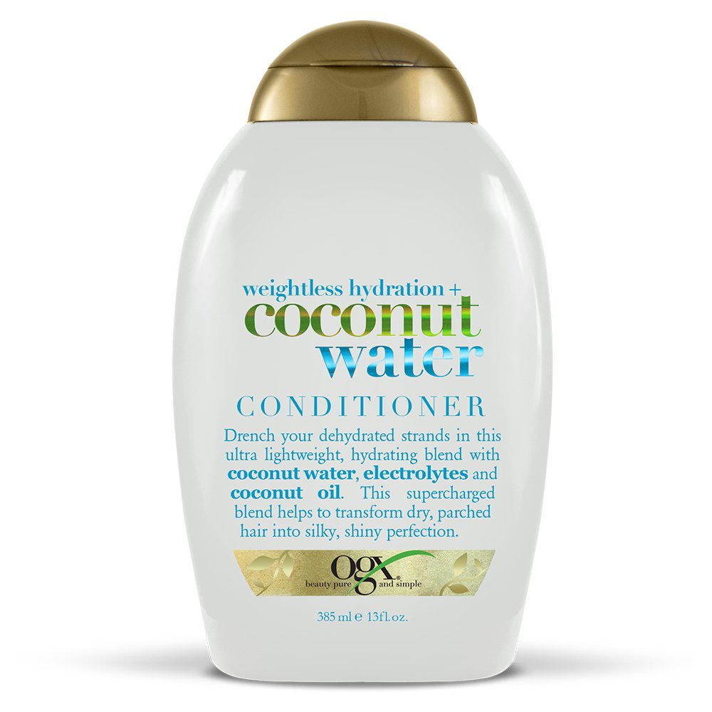 OGX Weightless Hydration + Coconut Water Conditioner, 13 Ounce BottleSulfate-Free Surfactants