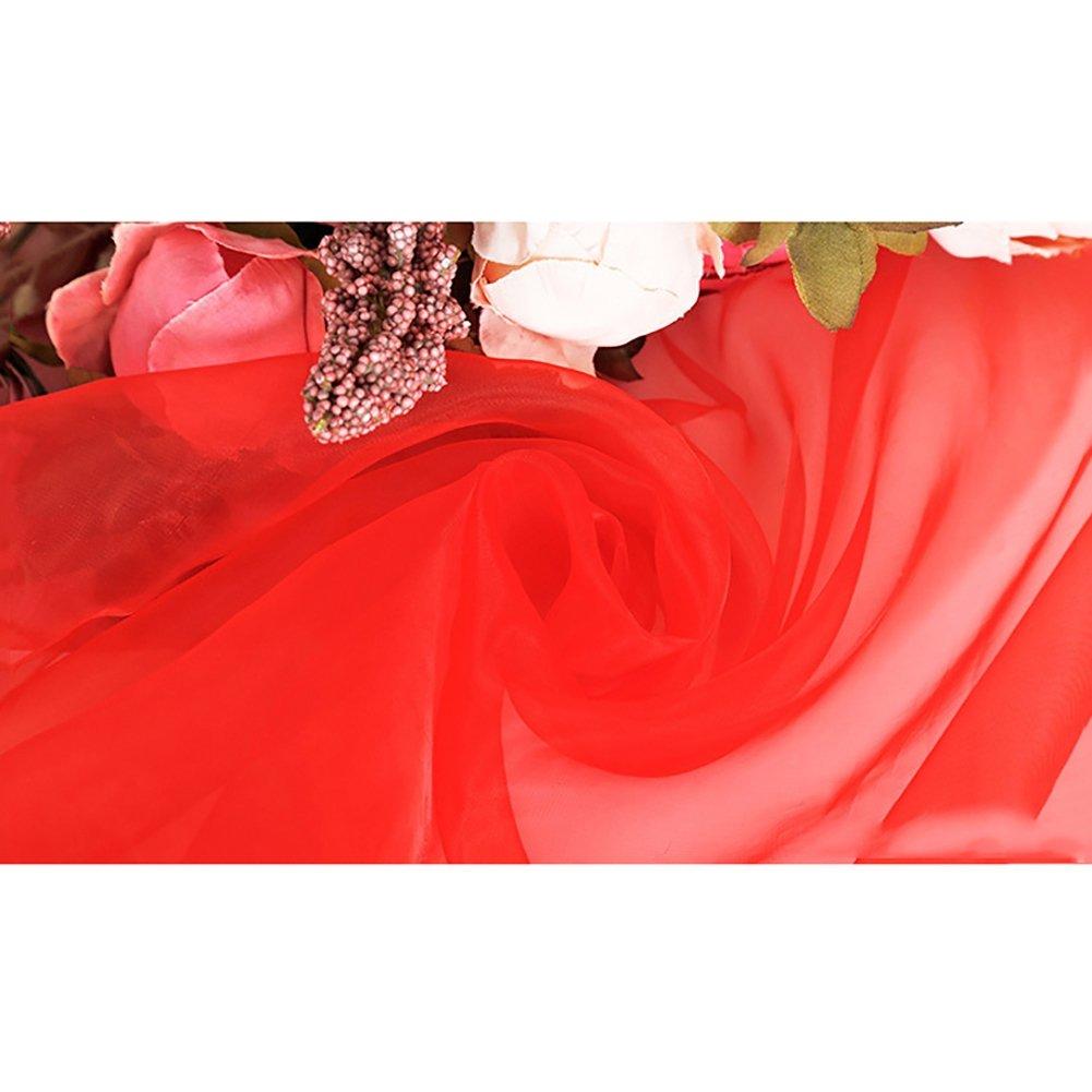 Kalaokei Comfortable Organza Cloth For Clothes Wedding Dress Scarf Curtain - Beige