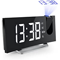 Mpow Projection Alarm Clock with Dual Alarms, USB Charging Port for Phone, Snooze Function