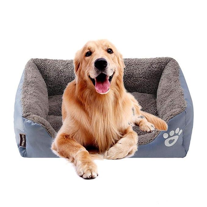 KOBWA Cama ortopédica para Perro, de Felpa Premium Impermeable, para Perros y Gatos, Alivia el Dolor de Artritis y sueño Mejorado, Lavable, ...