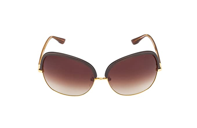 5b846295d8 Dita Azure Brown   Gold Sunglasses (Large)  Amazon.in  Clothing ...