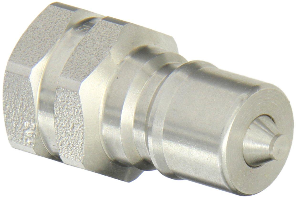3//4-16 SAE Female Plug with Valve EPDM Seal 3//4-16 SAE Female 3//8 Body 3//8 Body Eaton Hansen LL3K8192 Stainless Steel 303 ISO-B Interchange Hydraulic Fitting