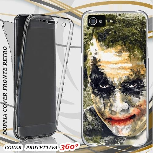 CUSTODIA COVER CASE JOKER ART PER IPHONE 4 FRONT BACK