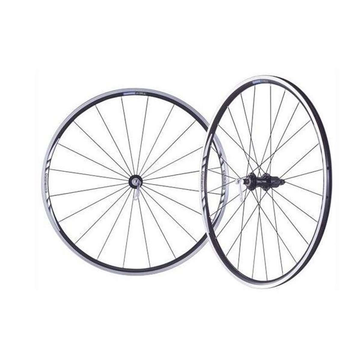 Shimano 700C Alloy Clincher Road Bike Wheelset - WH-R501 - EWHR501PEBMY by SHIMANO