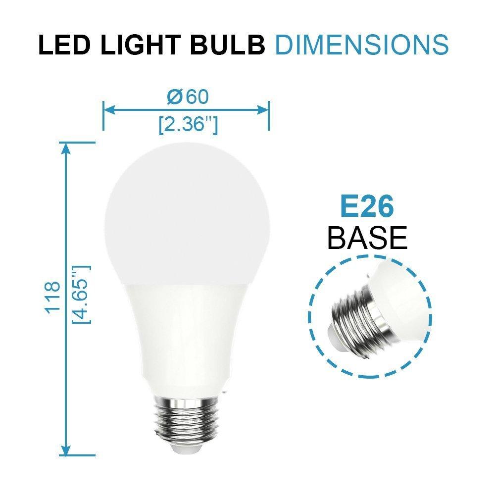 Warm White 2700K HERO-LED A19-6W-WW27 LED Light Bulb 6-Pack 6W E26 Medium Base 40W Equivalent UL Approved Dimmable A19 CRI 85+
