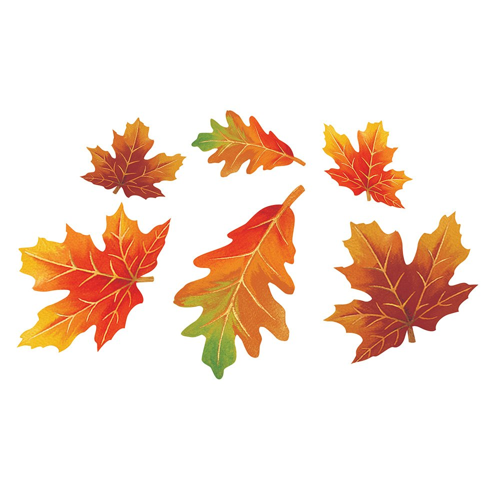 Creative Converting 990201 144 Count Decorative Cutout Assortment, Fall Paper Leaves