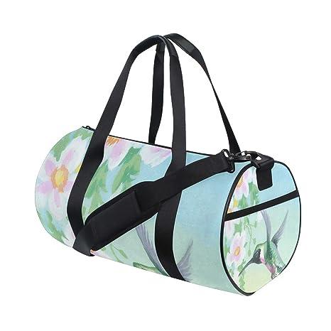 8f353d0dcd37 Amazon.com : OuLian Duffel Bags Flowers and Bird Womens Gym Yoga Bag ...