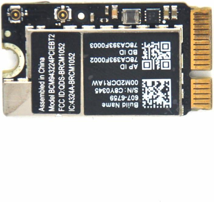 "Padarsey Replacement WiFi Bluetooth Broadcom Air Port Card BCM943224PCIEBT2 for MacBook Air 11"" A1370 and 13"" A1369"