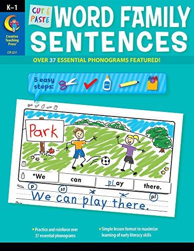 Creative Teaching Press Cut & Paste Word Family Sentences (2217)