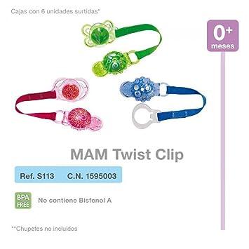 Mam Clip Twist Para Chupetes: Amazon.es: Juguetes y juegos