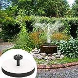 Smileyyi Solar Fountain,Solar Fountain Pump Bird Bath 1.5W Square Solar Fountain Water Pump with Frame Outdoor Birdbath Watering Submersible Pump for Pond, Garden and Patio