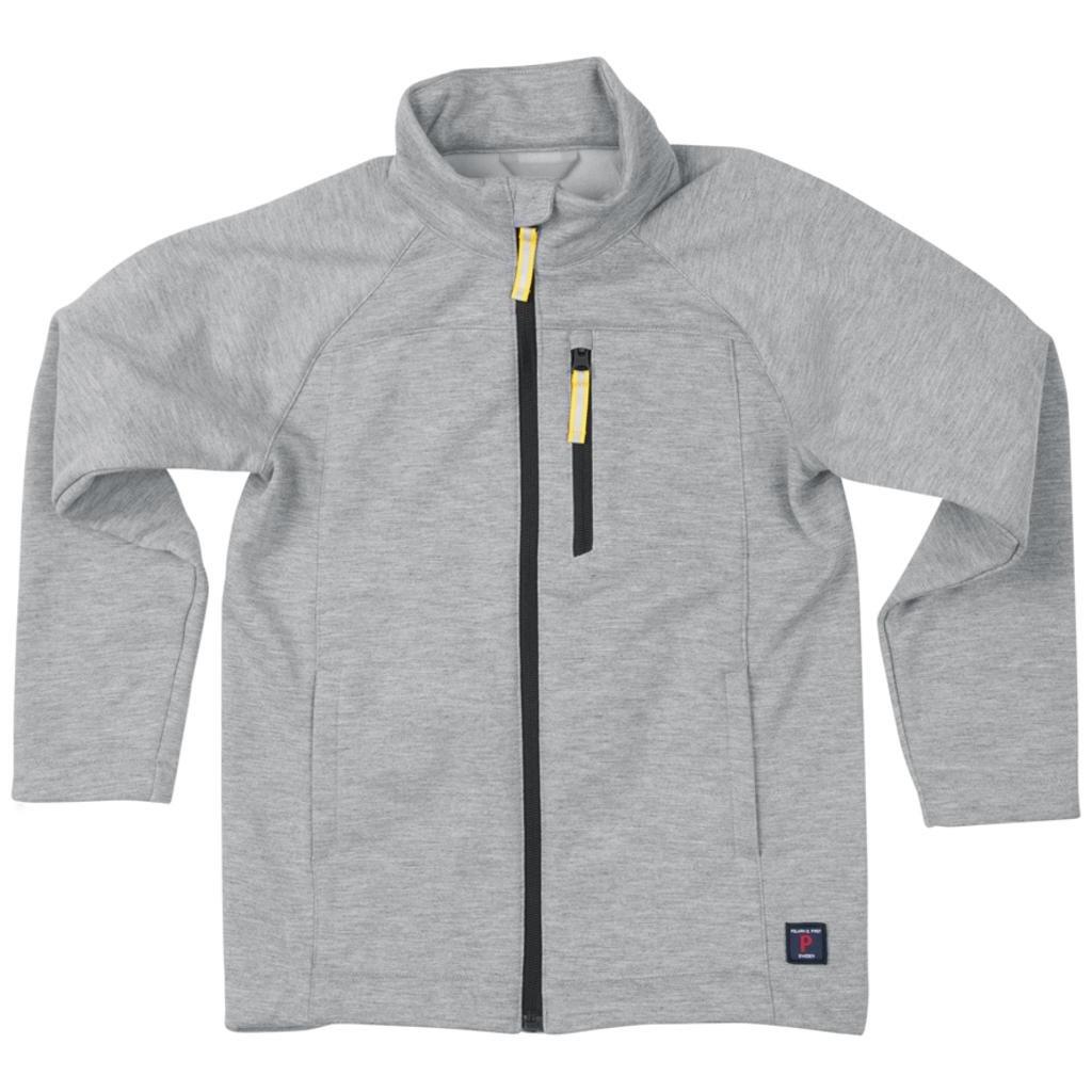 Polarn O. Pyret Gray Melange Soft Shell Jacket (6-12YRS) - Greymelange/7-8 Years
