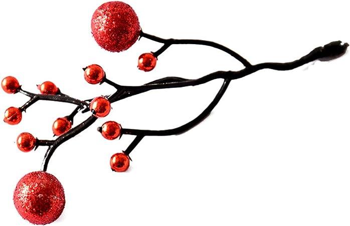 SonMo 2 PCS Decoracion Navideña Adornos Navideños para Escalera Adornos de Navidad de La Bella Y La Bestia Rojo: Amazon.es: Hogar