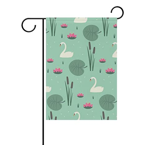 Amazon com : ClustersN Swans Water Lily Bulrush Leaves