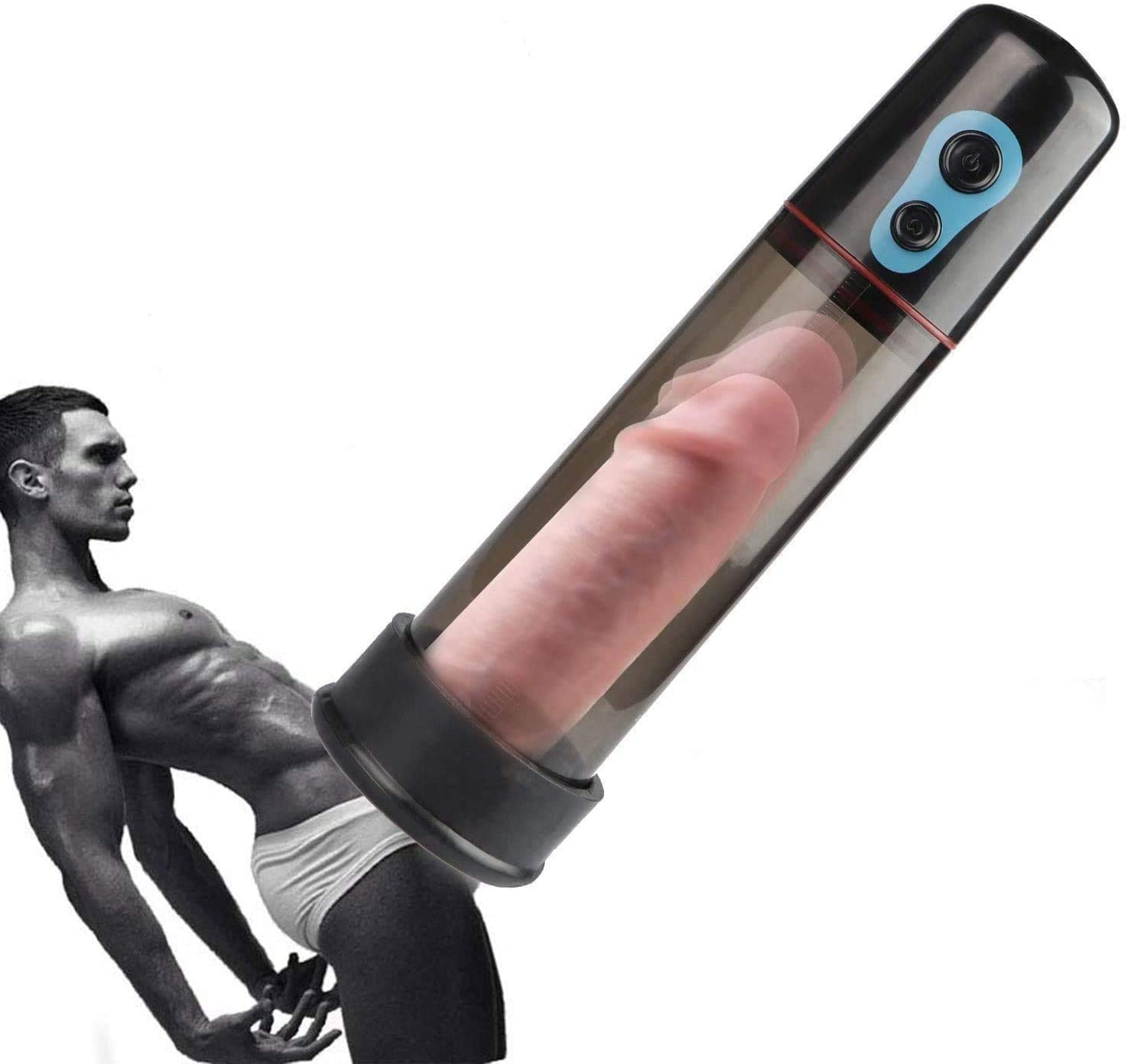 A Minimalist Life Potentes Succiones Vibración Bomba De Crecimiento De Vacío Juguete Automático De Mano Para hombres